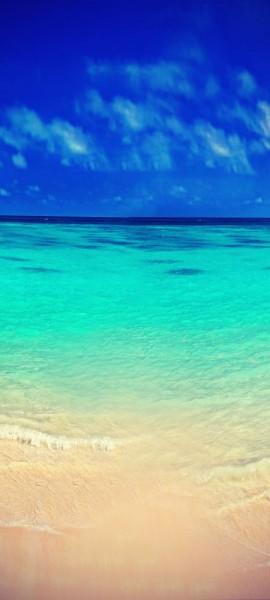 Türtapete selbstklebend Strand Vintage 90 x 200 cm Sonne Meer Sand Ozean Paradies Bahamas Meerblic