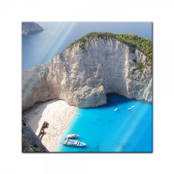 Glasbild - Schiffbruch auf Zakynthos - Griechenland
