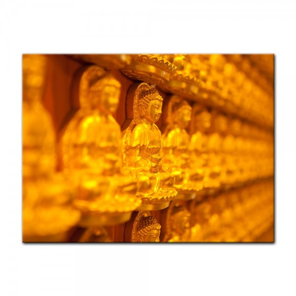 Leinwandbild - Goldener Buddha