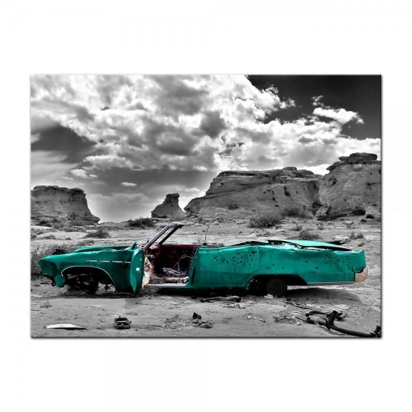 Leinwandbild - Cadillac - türkis