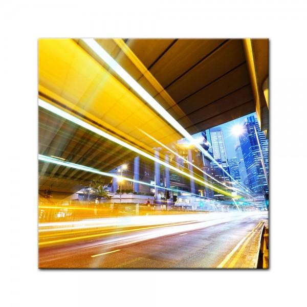 Glasbild - Night Traffic