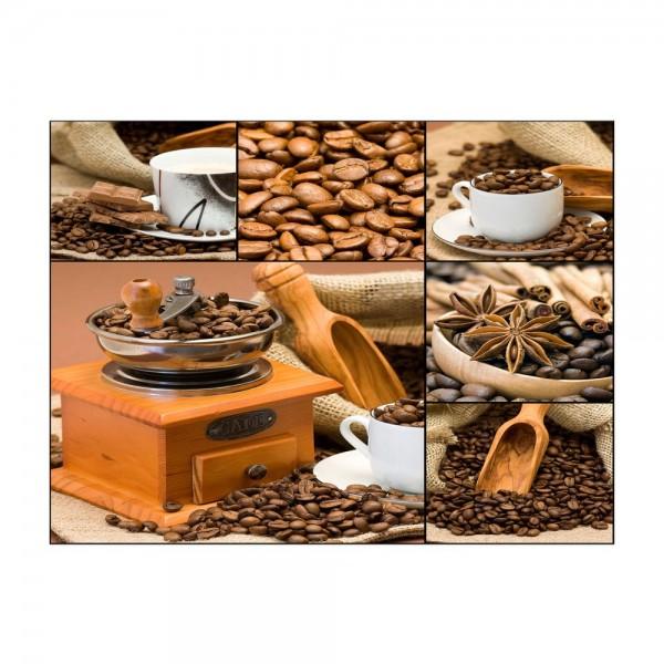 Leinwandbild - Kaffee Collage I