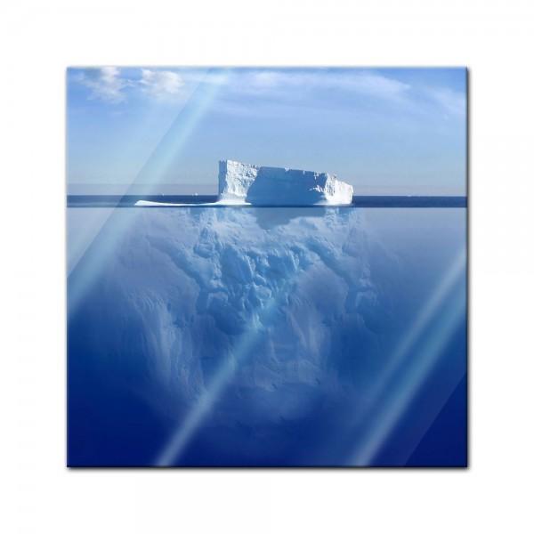 Glasbild - Eisberg