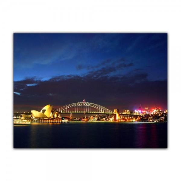 Leinwandbild - Sydney Opera House und die Harbour Bridge