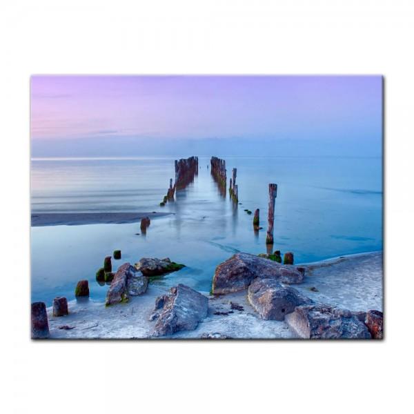 Leinwandbild - Alter Pier - Lettland
