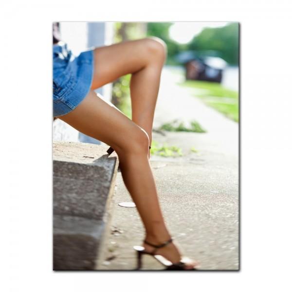 Leinwandbild - sexy Frauenbeine