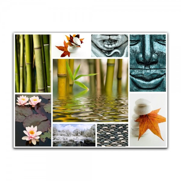 Leinwandbild - Buddha Collage
