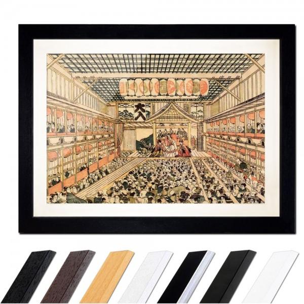 Katsushika Hokusai - Kabuki-Theater in Edo