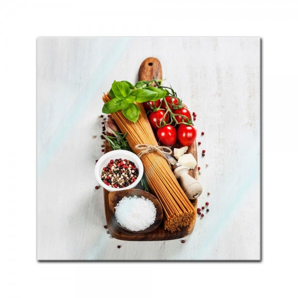 Glasbild - Italienische Pasta II