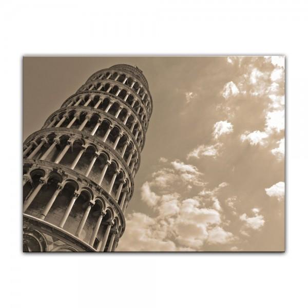 Leinwandbild - Schiefer Turm von Pisa