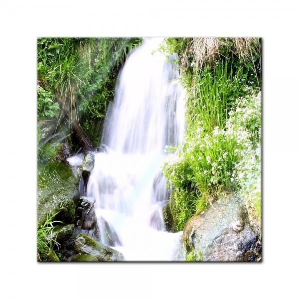 Glasbild - Kleiner Wasserfall