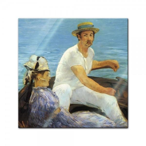 Glasbild Edouard Manet - Alte Meister - Im Boot