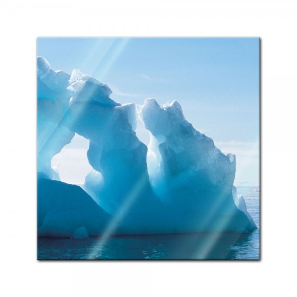 Glasbild - Eisformation