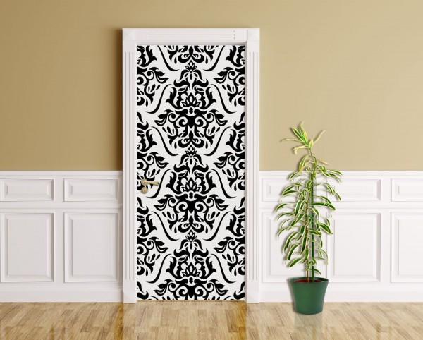 Türaufkleber - Florales Muster Tapete II