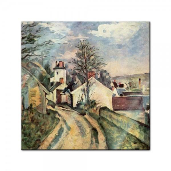 Glasbild Paul Cézanne - Alte Meister - Das Haus von Dr. Gachet