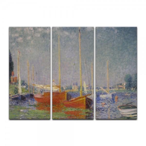 Leinwandbild - Claude Monet - Die roten Boote, Argenteuil