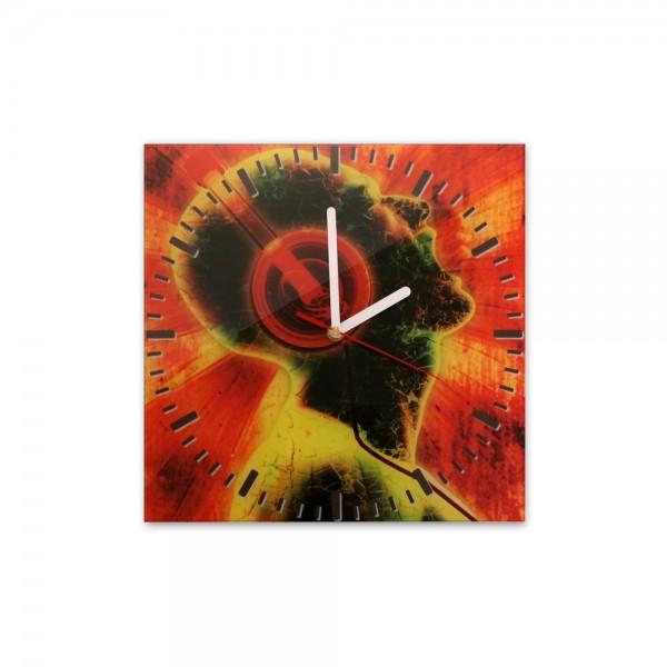 Glasuhr - Musik rot - 118