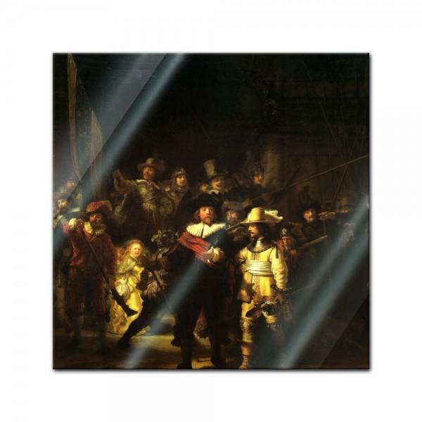 Glasbild Rembrandt - Alte Meister - Die Nachtwache