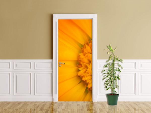 Türaufkleber - Gelbe Blume
