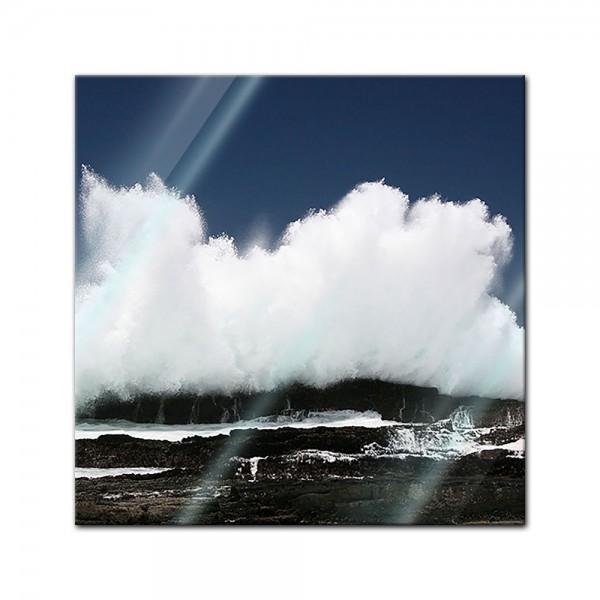 Glasbild - Welle