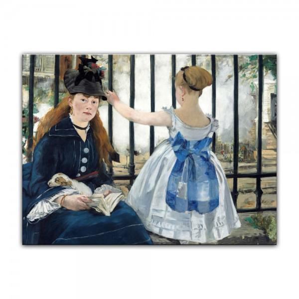 Leinwandbild - Édouard Manet - Die Eisenbahn