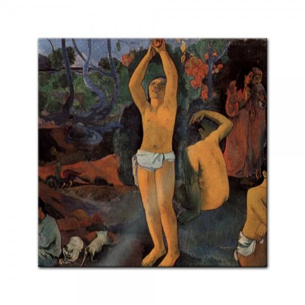 Glasbild Paul Gauguin - Alte Meister - Woher kommen wir Wer sind wir Wohin gehen wir