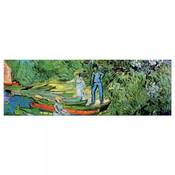 Leinwandbild - Vincent van Gogh - Boote am Ufer der Oise