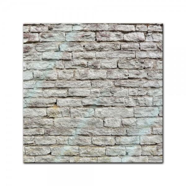 Glasbild - Steinmauer III