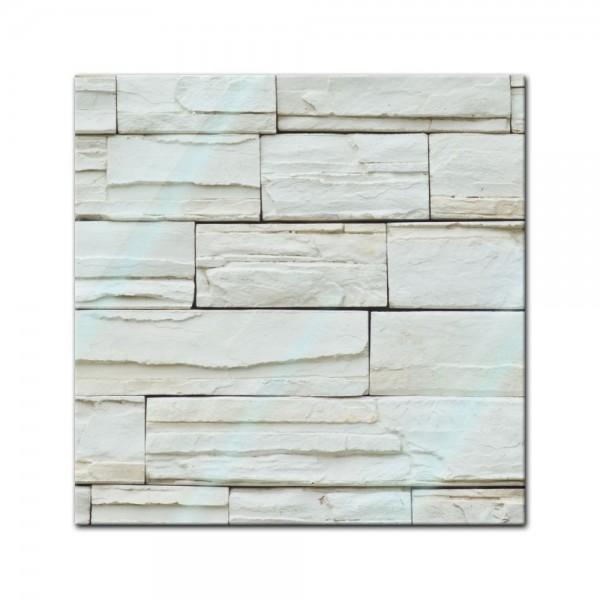 Glasbild - Steinmauer VI