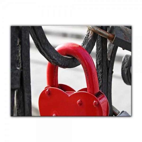 Leinwandbild - Rotes Herzschloss