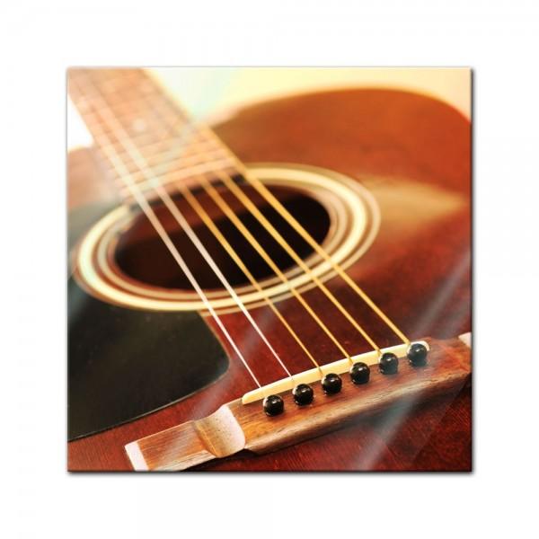 Glasbild - Gitarre