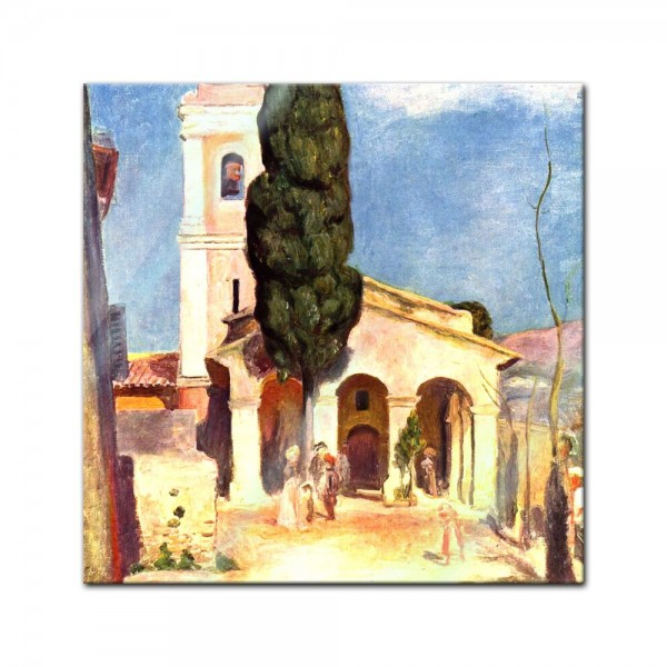 Glasbild Pierre-Auguste Renoir - Alte Meister - Kirche in Cagnes