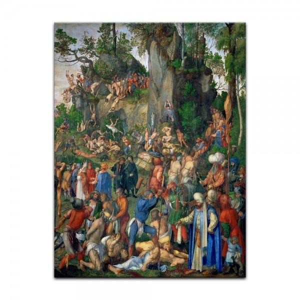 Leinwandbild - Albrecht Dürer - Marter der zehntausend Christen