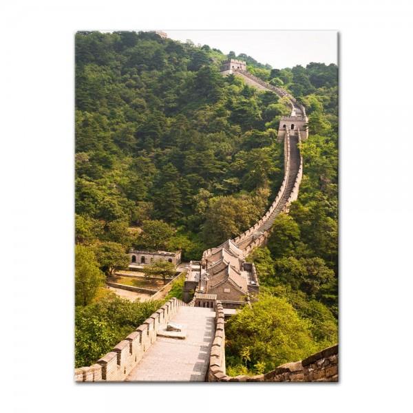 Leinwandbild - Die grosse Mauer nahe Peking