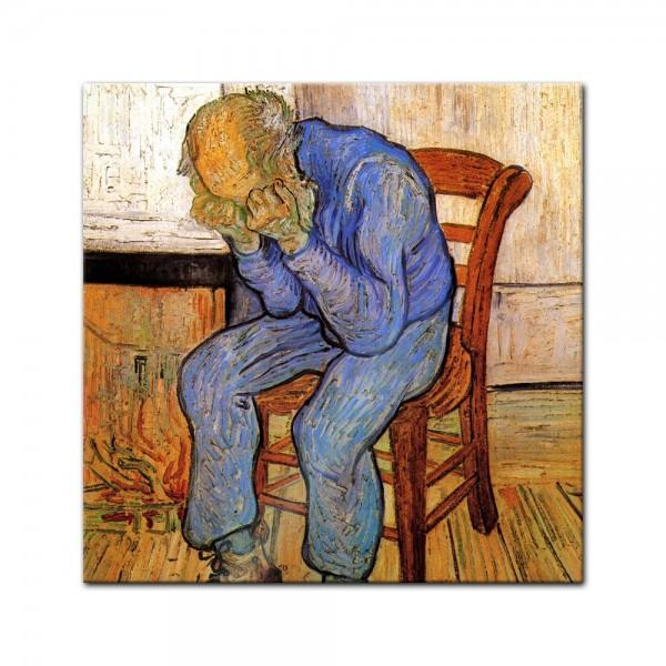 Glasbild Vincent van Gogh - Alte Meister - An der Schwelle der Ewigkeit