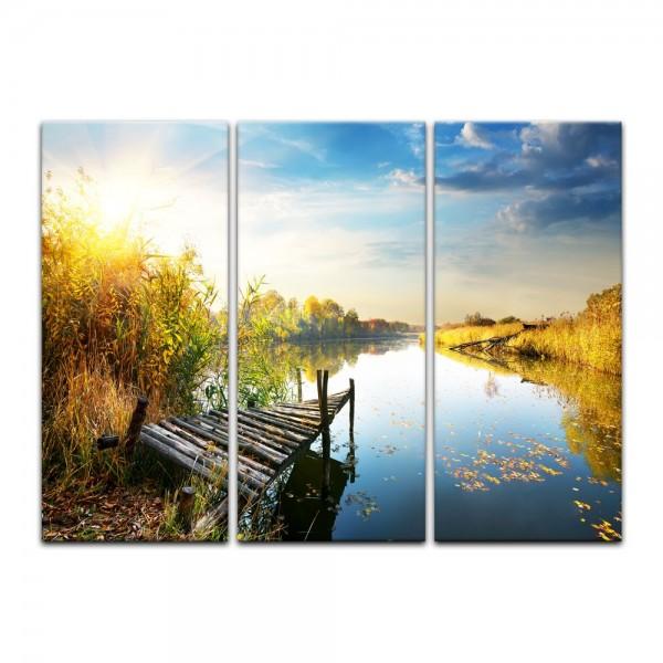 Leinwandbild - Herbst am See