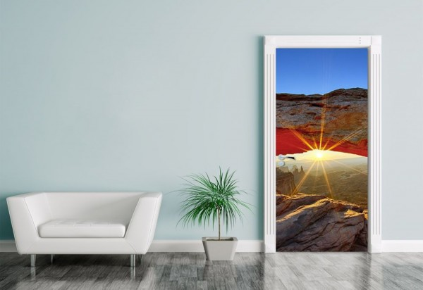 Türaufkleber Sunrise Mesa Arch, Canyonlands Nationalpark - Utah
