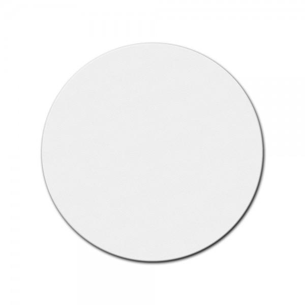 bemalbare Leinwand in weiß - Rund