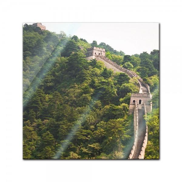 Glasbild - Die grosse Mauer nahe Peking