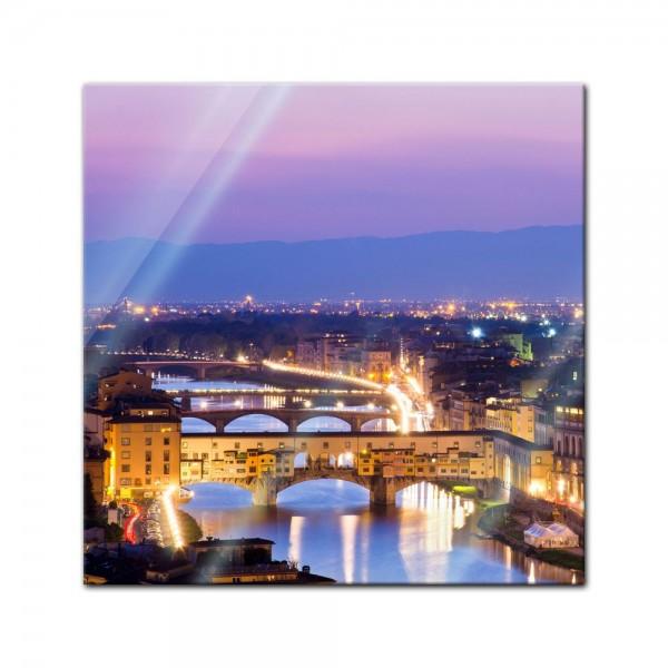 Glasbild - Florenz - Italien