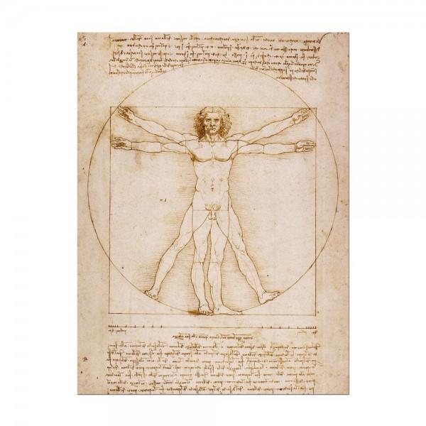 Leinwandbild - Leonardo da Vinci - Vitruvianischer Mensch
