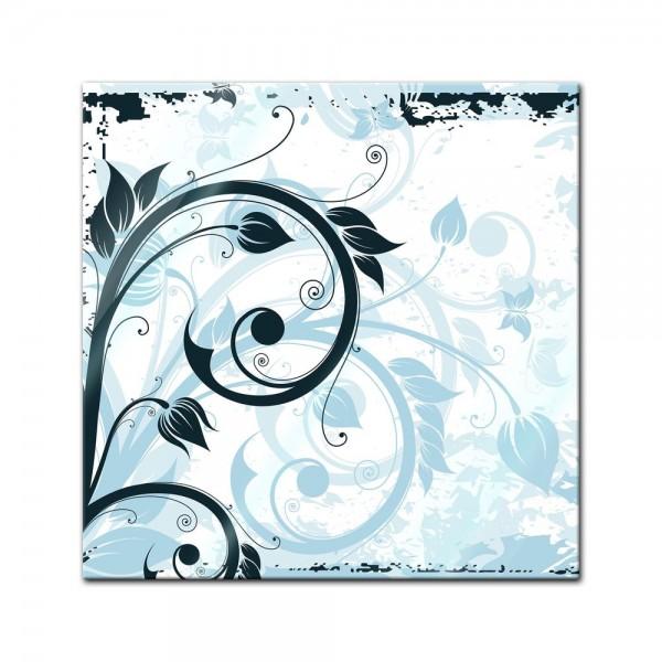 Glasbild - Blumen Grunge III