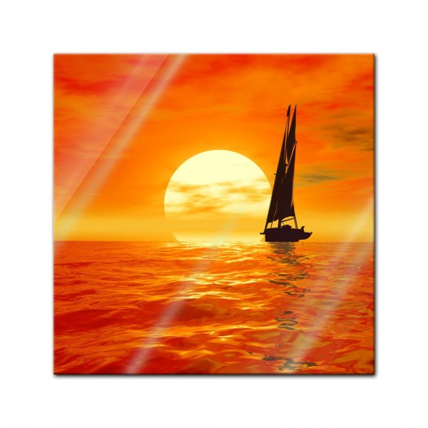 Glasbild - Segelboot