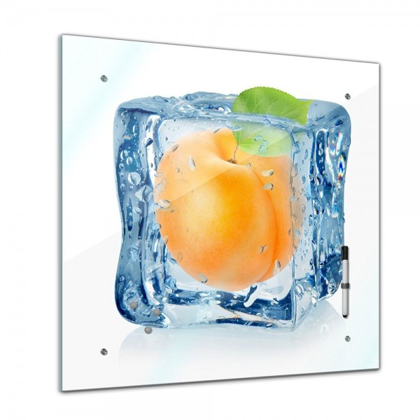 Memoboard - Essen & Trinken - Eiswürfel Aprikose - 40x40 cm