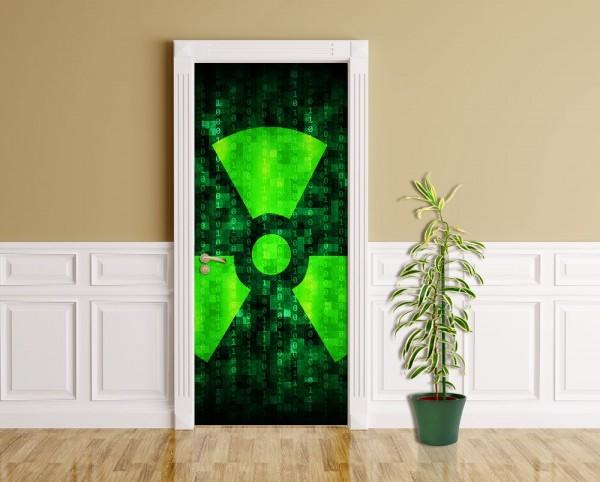 Türaufkleber - Radioaktiv