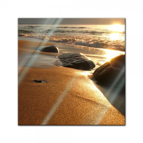 Glasbild - Goldener Strand