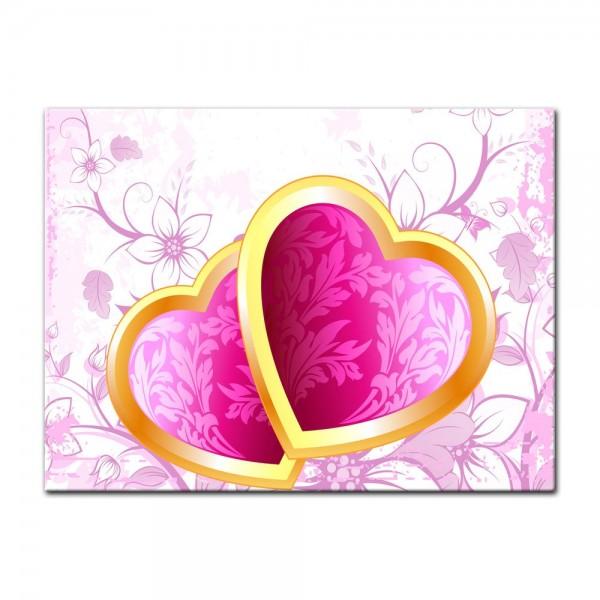 Leinwandbild - Valentinsherzen