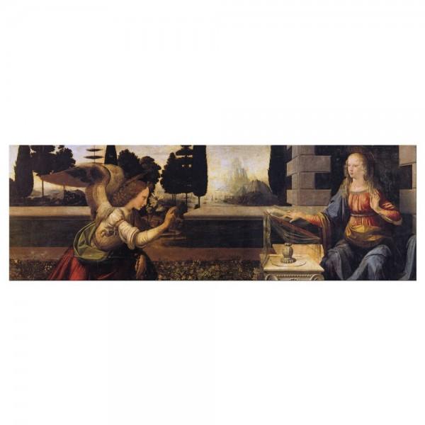 Leinwandbild - Leonardo da Vinci und Andrea del Verrocchio - Verkündigung an Maria