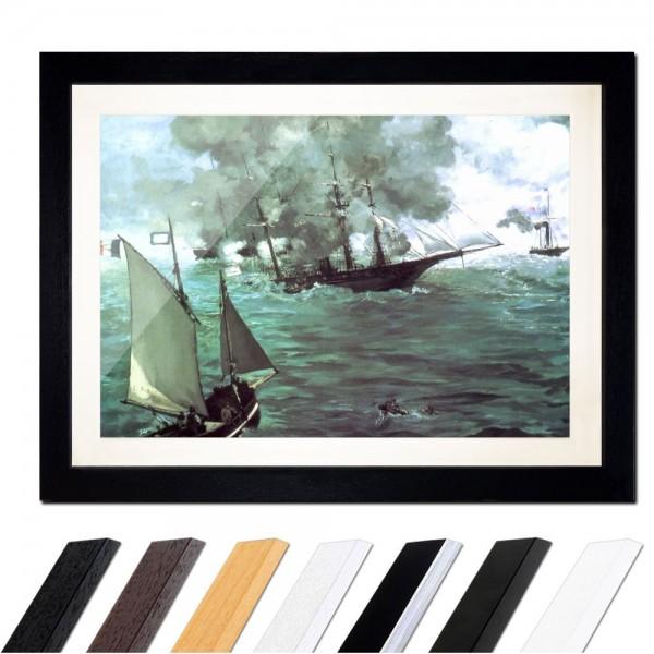 Édouard Manet - Seegefecht zwischen der Kearsage und der Alabama