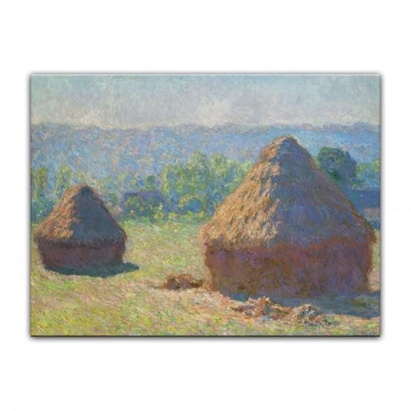 Leinwandbild - Claude Monet - Heuschober - Ende des Sommers